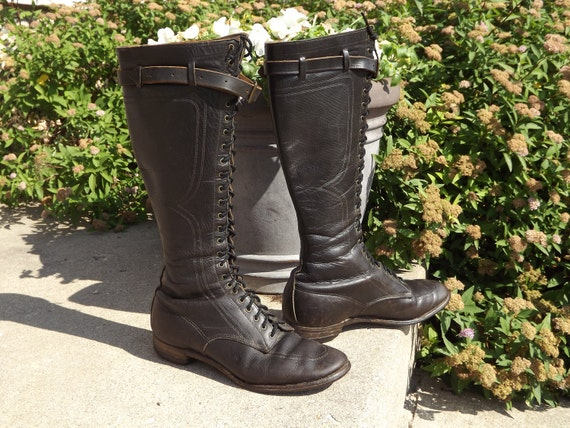Vintage Original Woman's Brown Leather Riding Boots