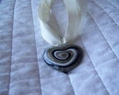 Swirled Heart Glass Pendant