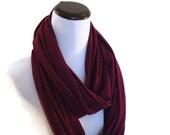 Plum Eggplant Jersey Infinity Scarf. Super soft jersey infinity cowl scarf. Purple Plum Eggplant