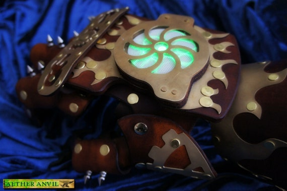 Steampunk Aether Battle Fist Armor