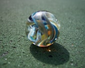 Glass Marble Hand Blown Art Contemporary Lampwork Implosion Boro Fume Marble