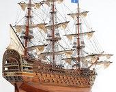 "Royal Louis 37"" Handmade Wood Scale Model Ship"