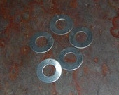 10  - One Inch Aluminum Washers with top jump ring hole - 20 gauge