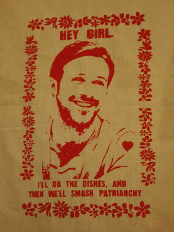 Ryan Gosling Feminist Tea Kitchen Towel