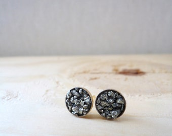 Pyrite Cluster Earring