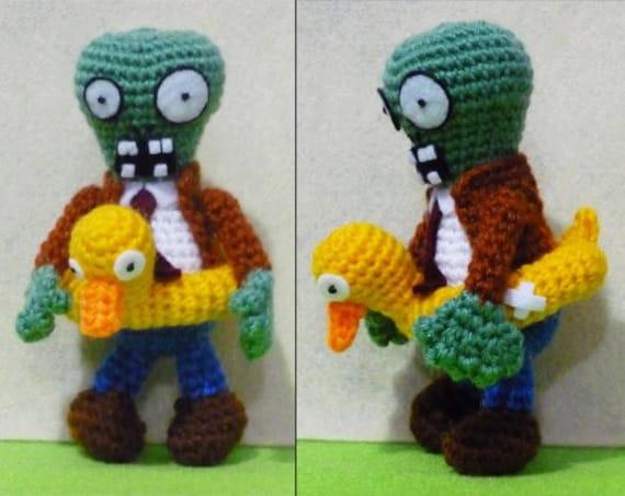 Crochet Zombie with duck Amigurumi- Finish Doll
