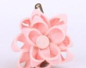 Pink Zipper Flower Clip