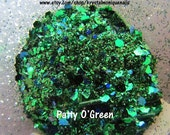 Raw Glitter Mix for Nails: Patty O'Green (Rainbow Brite Collection)