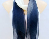 During the spring and autumn of silk cotton hand-painted gradient joker scarf