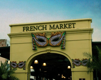 Digital photograph of the French Market in New Orleans, LA