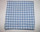 Mens Pocket Square- Blue & White