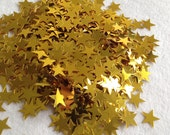 Gold Star metallic confetti