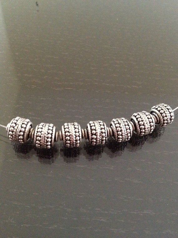Moroccan sterling silver beads 8mm