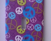 Peace Signs Light Switch Plate Single Handmade Cover