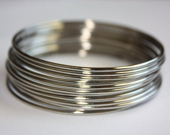 Metal Bangles set - silver color