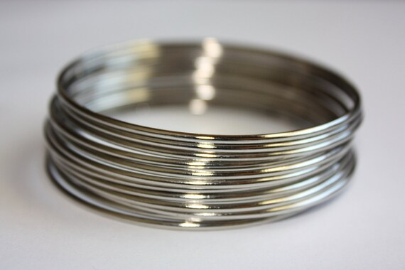 Metal Bangles set - silver color