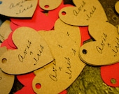 Heart Shaped Merchandise Tags - Customized / Personalized Tags for your merchandise.