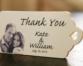 Personalized Thank You Tags - Photo Personalized (150) - Personalized Wedding Favor Tags, Perfect for Weddings or Party Favors