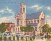 1930s Vintage Postcard: St. Patrick's Church, Providence, R. I.