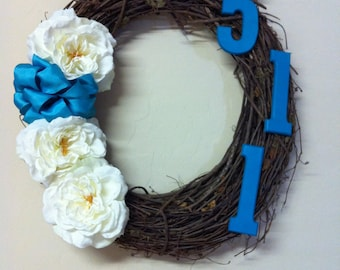 Outdoor Address Wreath