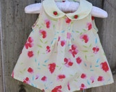 Little Lindsey Vintage Baby Girl Yellow Floral Top 0/6 Month