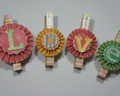 Personalized, Custom name, Magnet Clothespins, Pinch, Clip, for Babyshower, House warming, Wedding, Party Favors