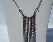 Ombre effect copper tone chain necklace