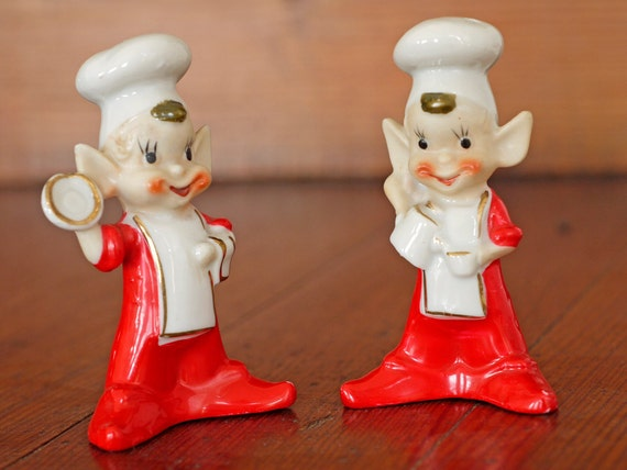 1950s Elf Salt / Pepper // 50s Novelty Salt / Pepper