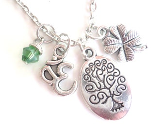 Tree of Life Necklace Om Namaste Yoga Jewelry Zen Earthy Unique Gift Under 50 Item T4