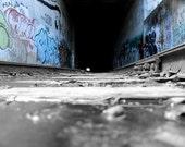 Color Splash Graffiti Tunnel - Olympia - Photography on Canvas