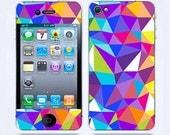 Iphone 4 Skin & iphone 4S Skin Geometric Pattern iphone decal iphone 4 decal sticker