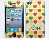 iPhone 4 Skin & iPhone 4 Decal Love iPhone Decal iPhone 4S Decal Sticker