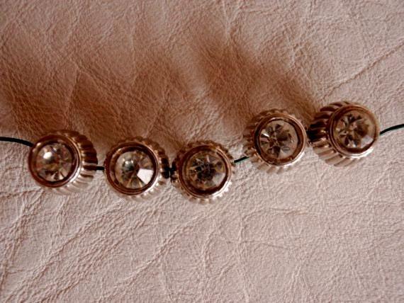 Vintage Retro 1950s Rhinestone buttons