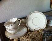 Pope Gosser LaBelle pattern Cups and Saucers