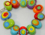 Colorful Teeny Tiny's by DIF Designs Lampwork Glass Beads  12 CARNIVAL