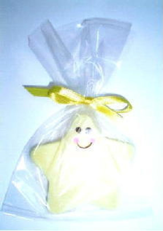 25 Yellow Smiling Star Soap Baby Shower Favors