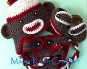 Newborn Sock Monkey Gift Set