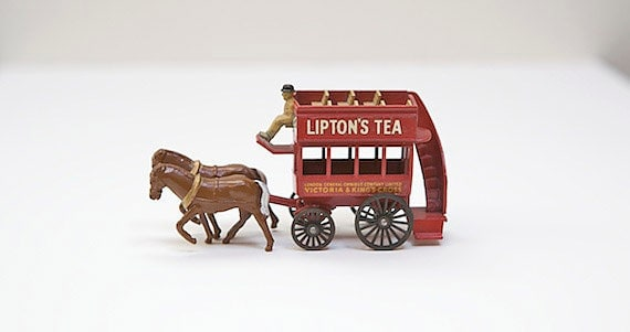 Vintage Lesney 1899 Horse Drawn Bus Made in England, Matchbox