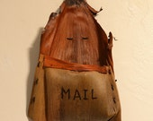 Mail Holder for kitchen or Hallway - Recycled - Go Green