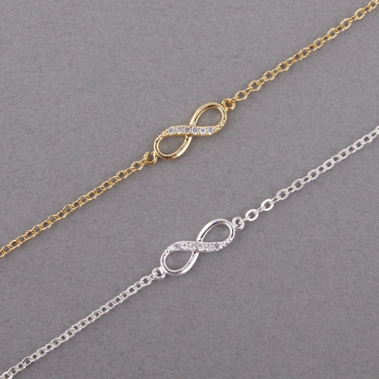 Gold/ Silver Infinity Bracelet by bkandjio on Etsy