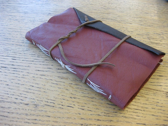 Red and Brown Leather Journal
