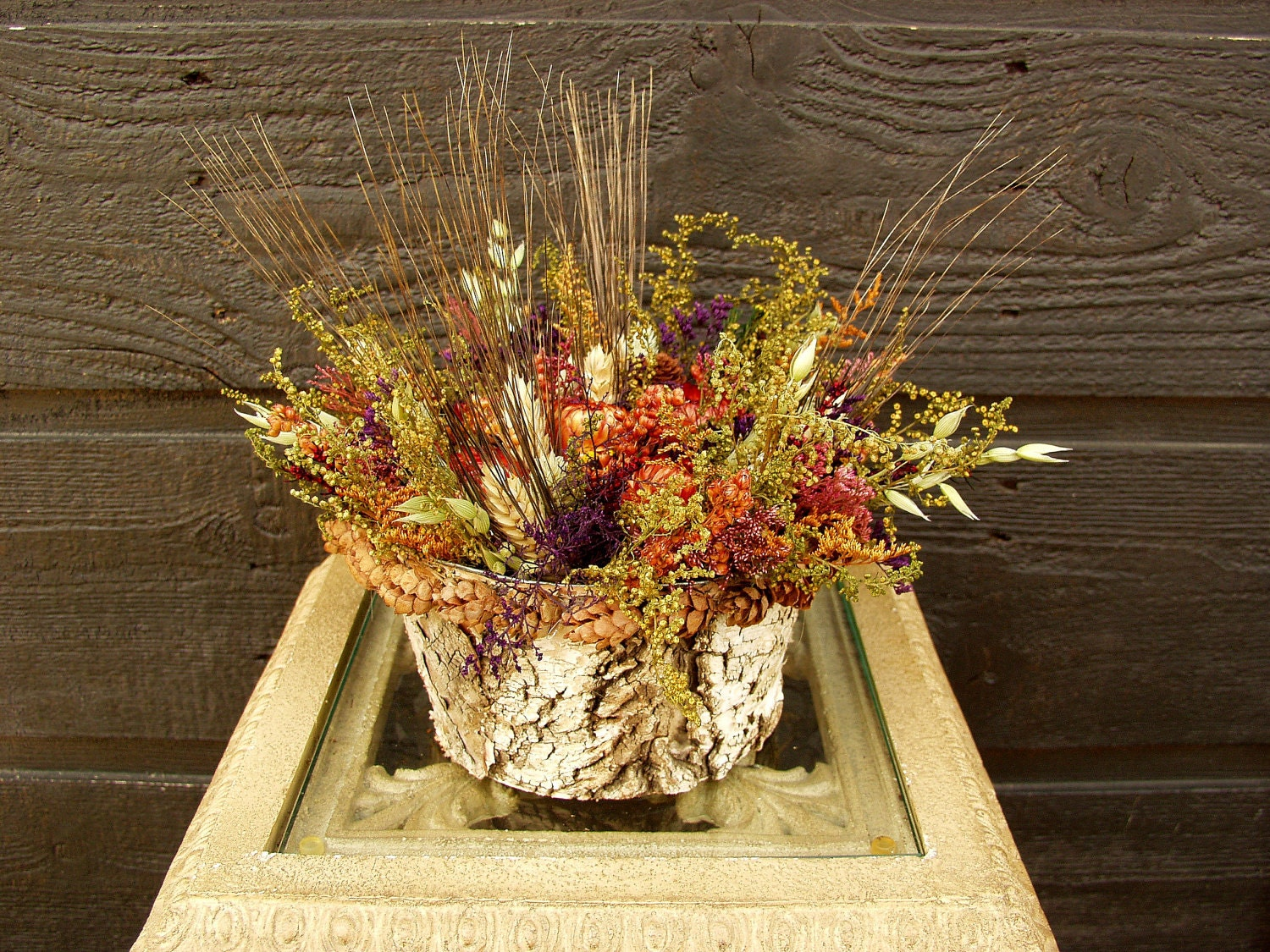 Gift Birch Bark Country Woodland Rustic Dried Flower