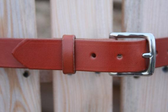 Amish Made Light Brown Caramel Chestnut Color Belt - English Bridle Leather - Men Women - Beautiful