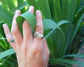 Raw Emerald Calcite Ring