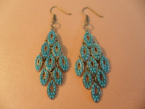 Turquoise Danglies Earrings