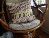 1970's Bent Bamboo Swivel Rocking Chair