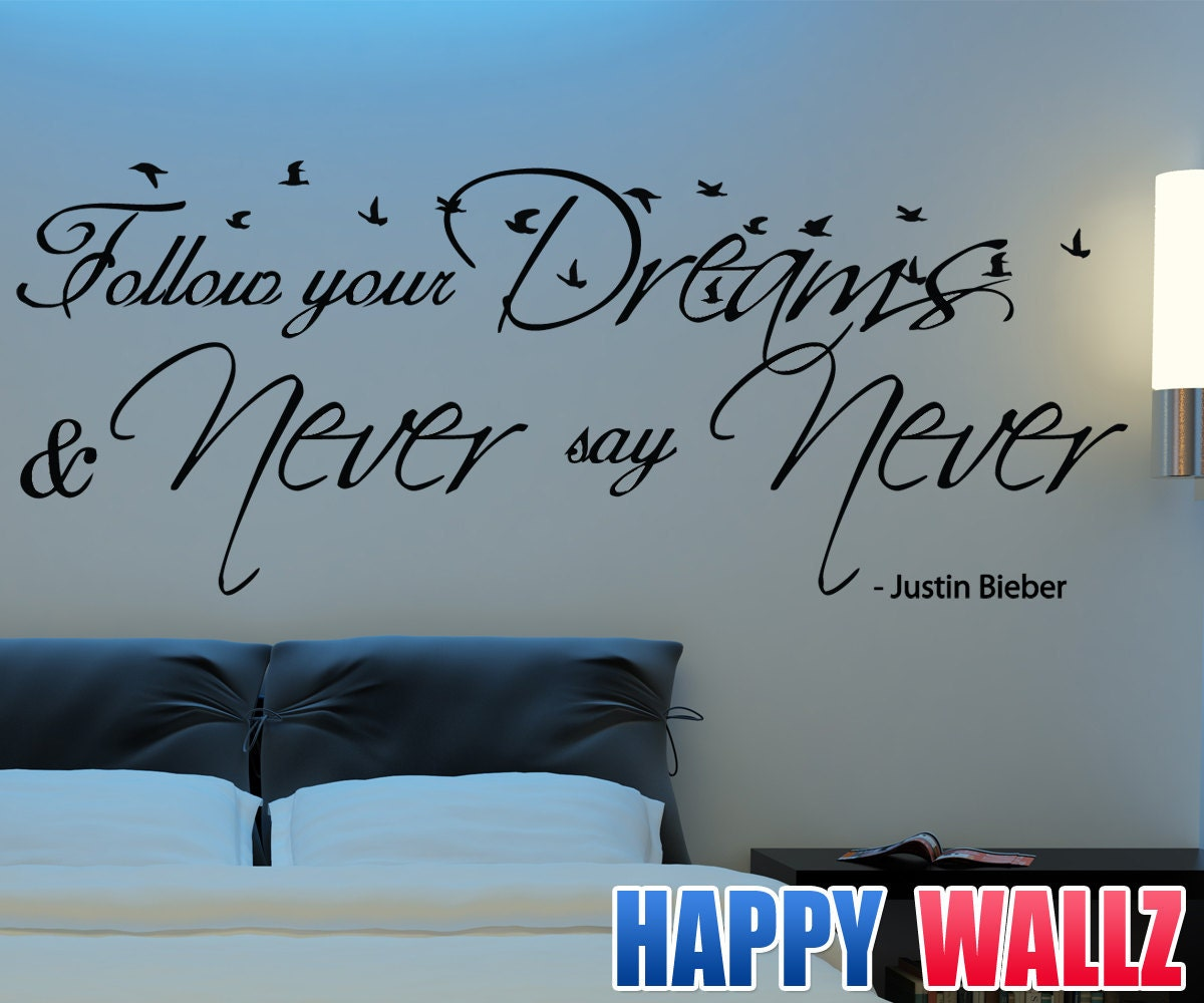 Teen bedroom wall decals quotes quotesgram for Decor dreams