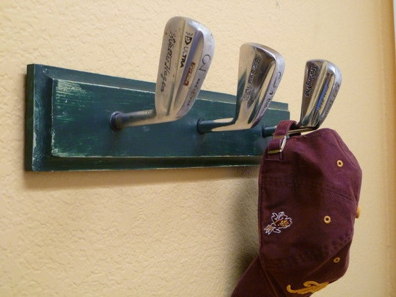 Vintage Golf Club Coat Rack