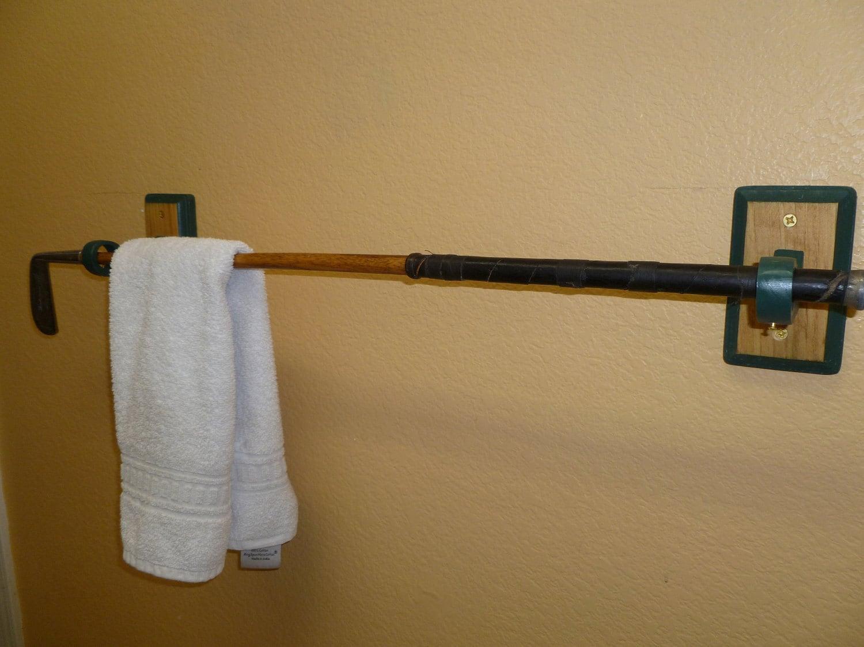 Antique Hickory-Shaft Golf Club Towel Rack