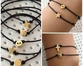 Mini charm adjustable bracelet